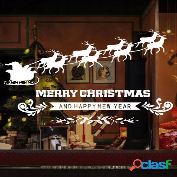 Miico abq6002 christmas sticker pvc removível adesivo de parede para decoração de quarto