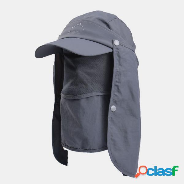 Uv boné de pesca para proteção ao ar livre sol chapéu boné de secagem rápida boné de beisebol