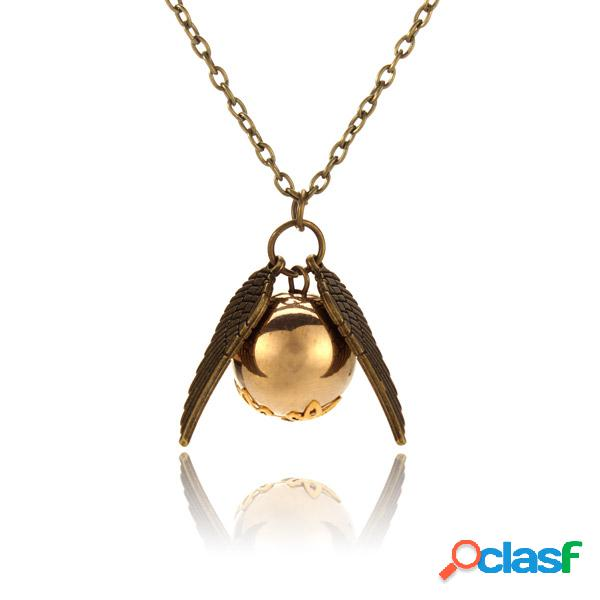 Anjo wings bead ball pendant chain necklace