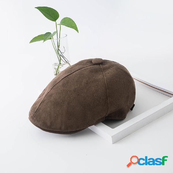 Boina casual cap moda avant-garde chapéu protetor solar chapéu