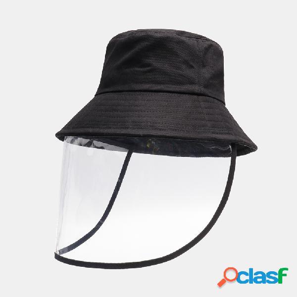 Viseira de sol removível collrown de pvc antiembaçante capa à prova de respingos e balde de pesca chapéu