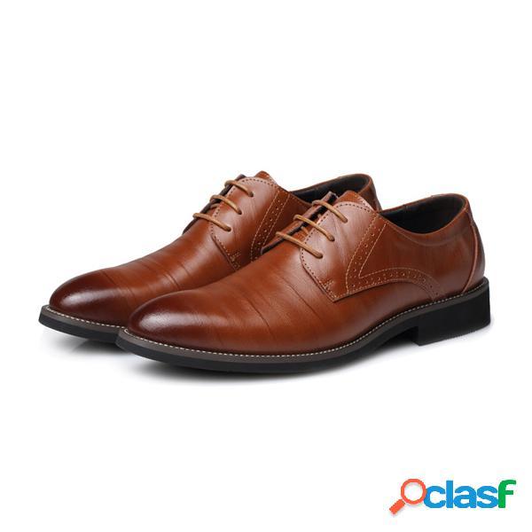 Homens cor jogo formal negócios lace up sapatos