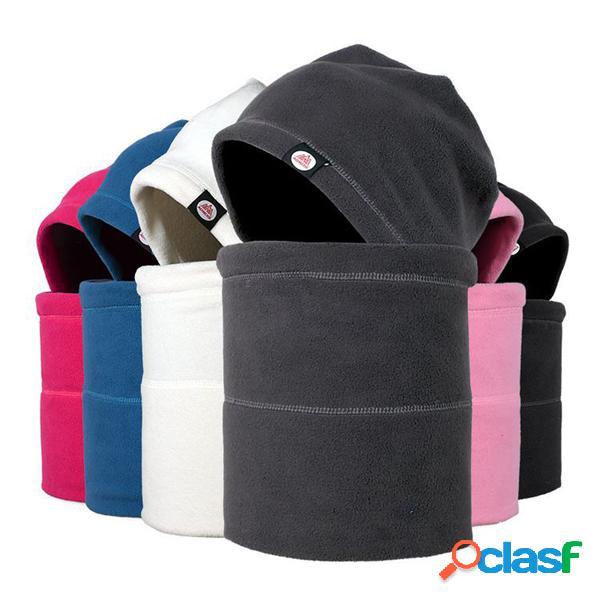Homens mulheres rosto completo máscara fleece cap pescoço warmer capa de proteção de inverno cs esportes de esqui chapéu