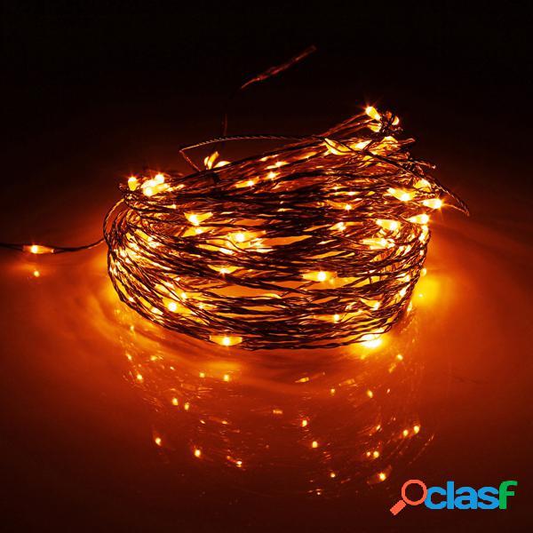 20 m 200 led solar powered copper fio cordas fada luz decoração da casa de festa de natal