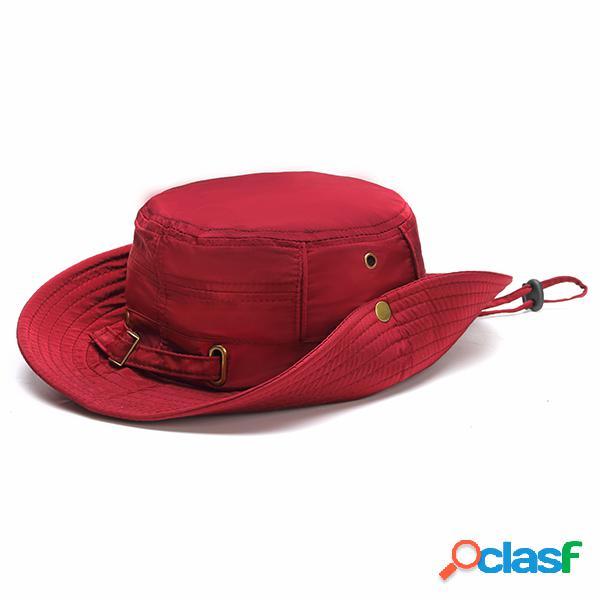 Chapéu em verão comfortável chapéu de pescador atividade outdoor protector solar visor bucket para mulheres
