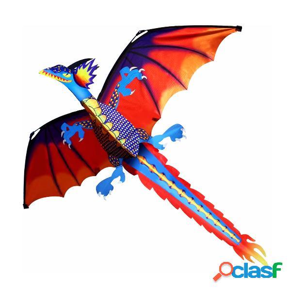 3d dragon kite 140 * 120cm linha única com brinquedo de cauda ao ar livre