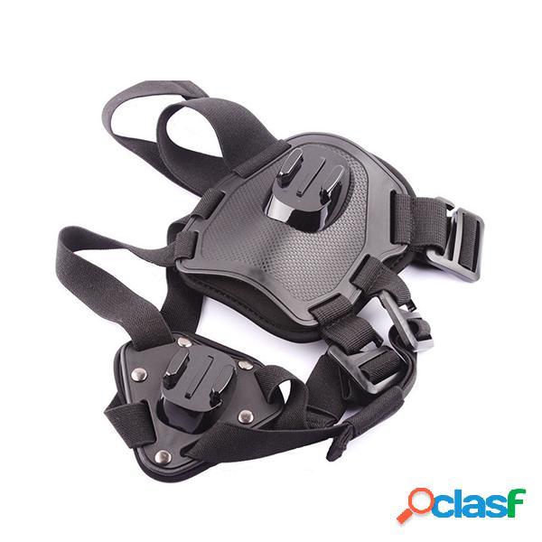 Go pro camcorder hound pet dog harness soft adjustable harness chest straps