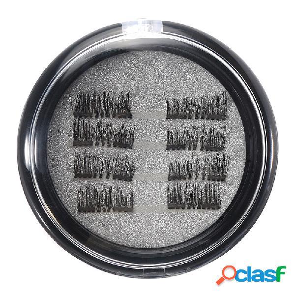 8peças/2 pares 3d cílios falsos magnéticos longos naturais