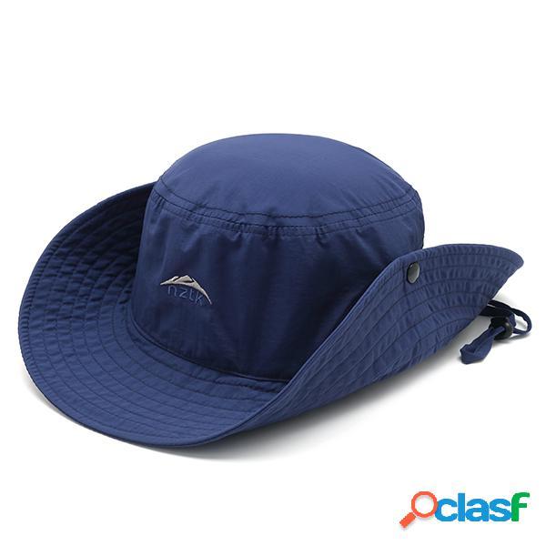 Homens dobrável verão cap sol respirável ajustável balde de pesca chapéu viseira ao ar livre chapéu