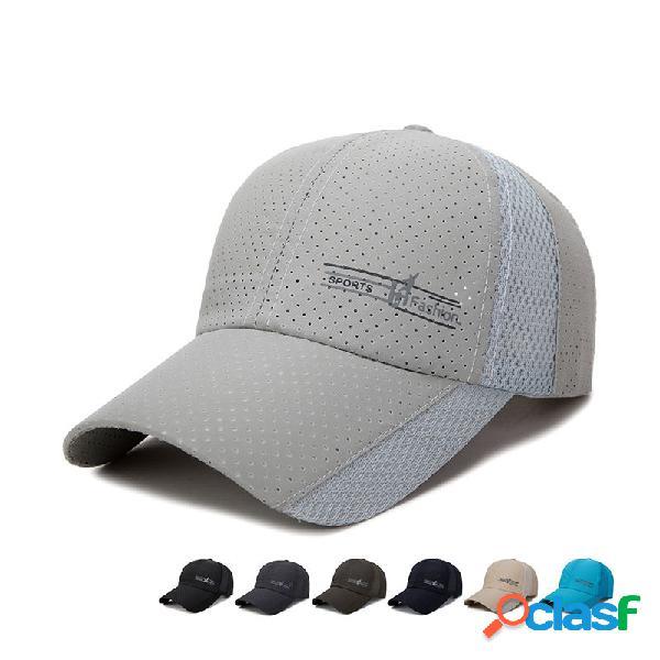 Mens womens verão ultra-fino de secagem rápida respirável boné de beisebol ao ar livre chapéu de sol