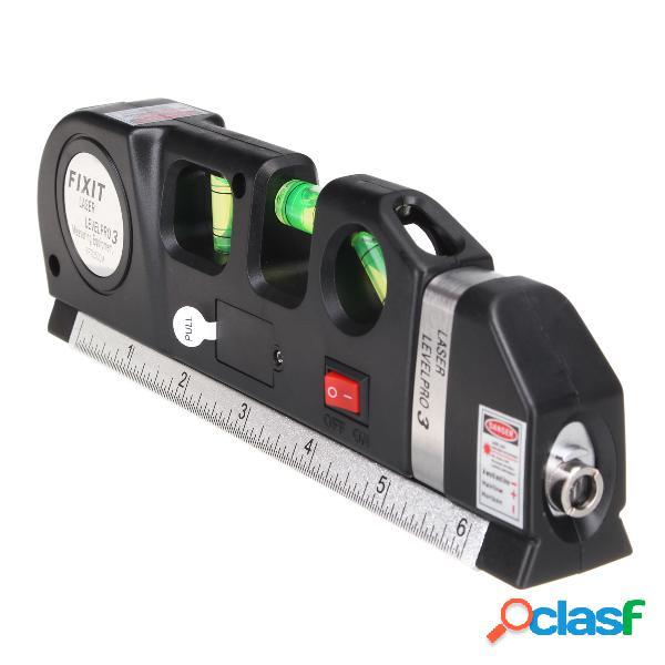 Nível de espírito de nível laser lasers régua horizontal linha régua medida ferramentas ajustadas padrão