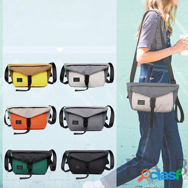 Lona cintura casual bolsa crossbody bolsa para mulheres dos homens