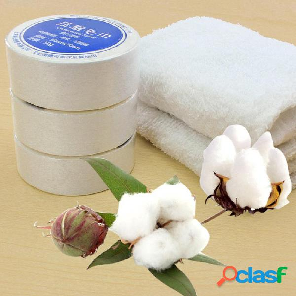 Toalha comprimida magia ao ar livre viagem limpe algodão macio expansível toalha de poupança de espaço portátil toalhas