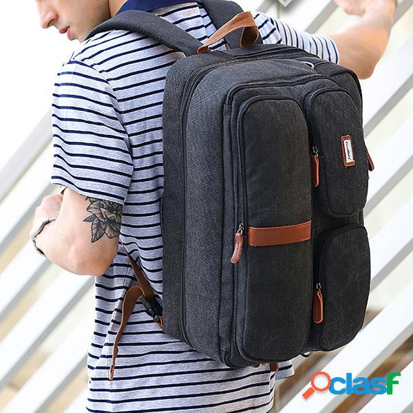 Lona de negócios 17.3 polegada laptop mochila à prova d 'água casual de alta capacidade multifuncional sacos para homens