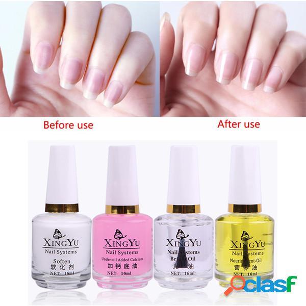 Prego conjunto de óleo cuidados prego suavizar gel unhas de unhas de óleo de base de óleo kit 4 unhas cuidados com as unhas polonês