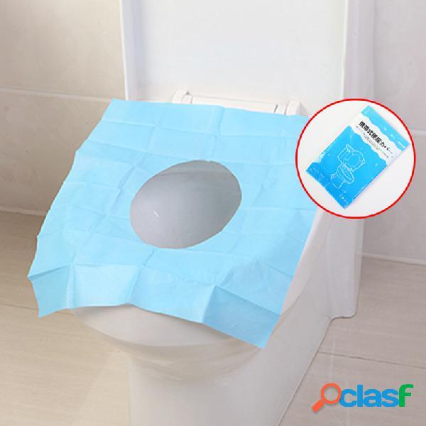 Tampas de assento descartáveis do toalete esteira de papel higiênico eco-friendly travel gadget portátil banheiro acessor