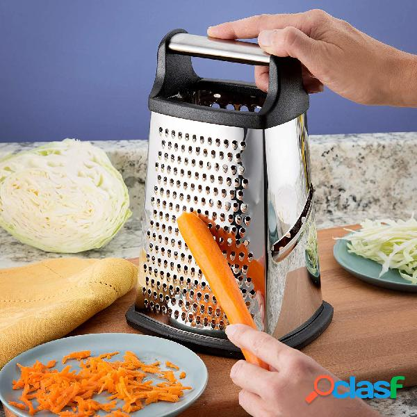 Função mulit descascador de frutas legumes cozinha profissional cortador de legumes ralador de aço inoxidável 4 lados ralador queijo utensílios de cozinha acessórios