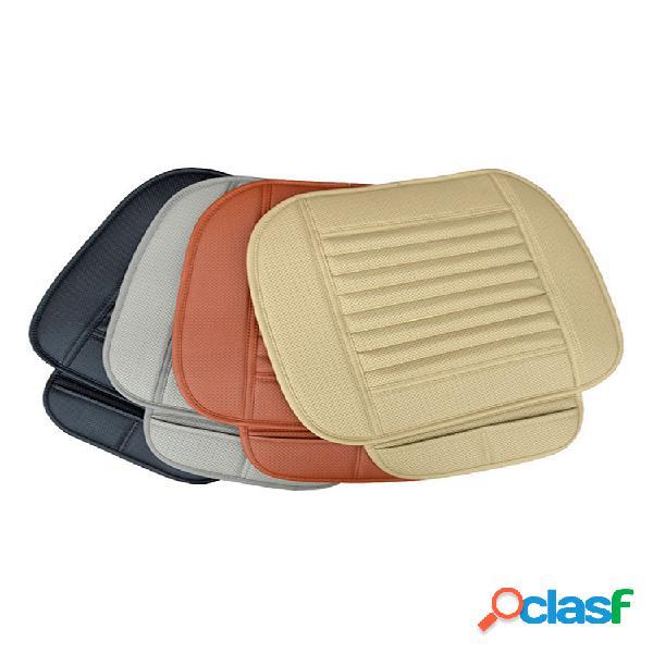 Capa protetora para assento de carro de couro pu universal capa impermeável com almofada respirável de luxo (1 unidade)