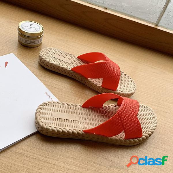 Mulheres casual leve chinelos de dedo do pé aberto