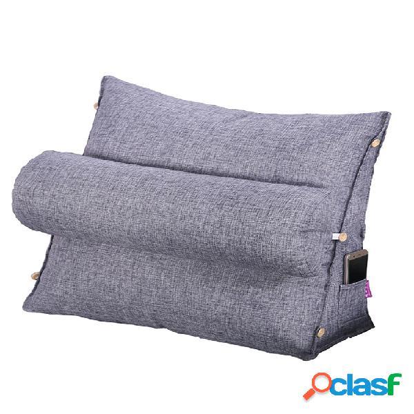 almofada triangular em cunha de algodão pp blended travesseiro apoio de posicionamento almofada de encosto de leitura sofá-cama almofada de descanso para cama de dia com capa removível e lav