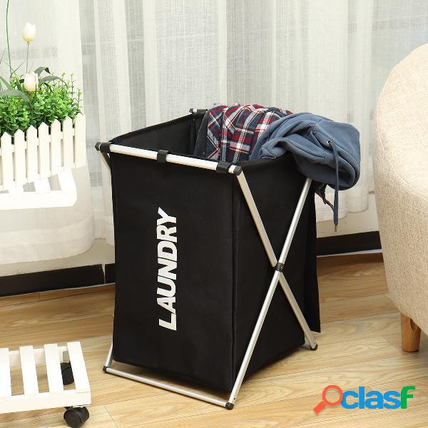 cesto de armazenamento de roupas sujas organizador de três grades e cesto de roupa suja casa