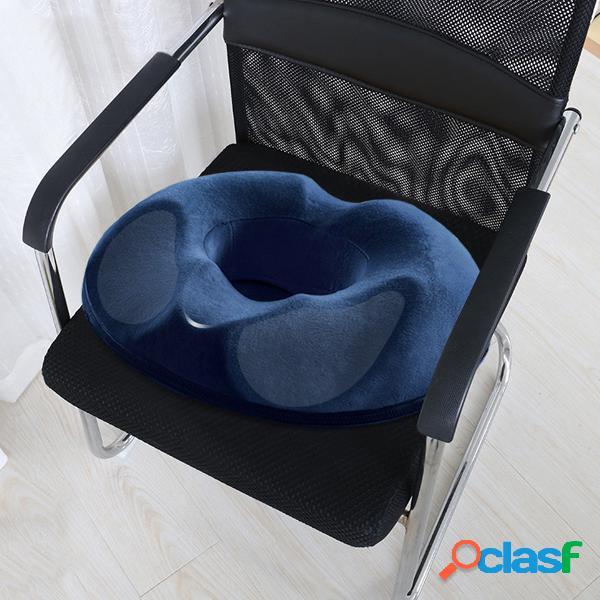 Almofada de espuma viscoelástica para assento de cóccix almofada ortopédica para escritório em casa almofada para cadeira