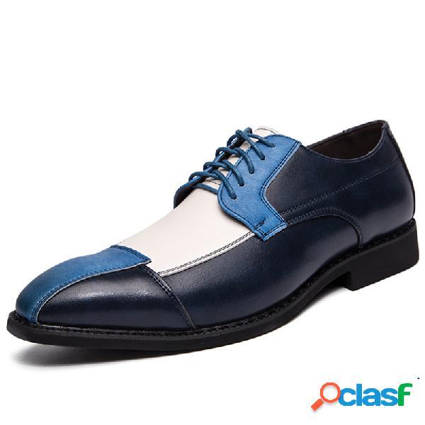 Couro de microfibra masculino com costura antideslizante para festa casual sapatos formais