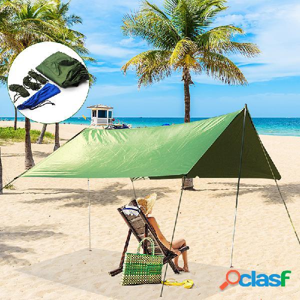 Tenda para guarda-sol impermeável de 10x10 pés lona para chuva toldo para acampamento ao ar livre rede