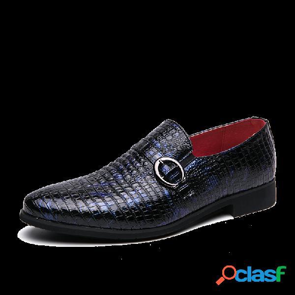 Couro de microfibra metálico antideslizante masculino em sapatos formais