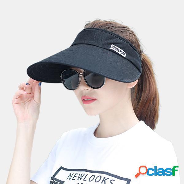 Mulheres brim grande vazio top sun chapéu protetor solar chapéu cobrindo o rosto