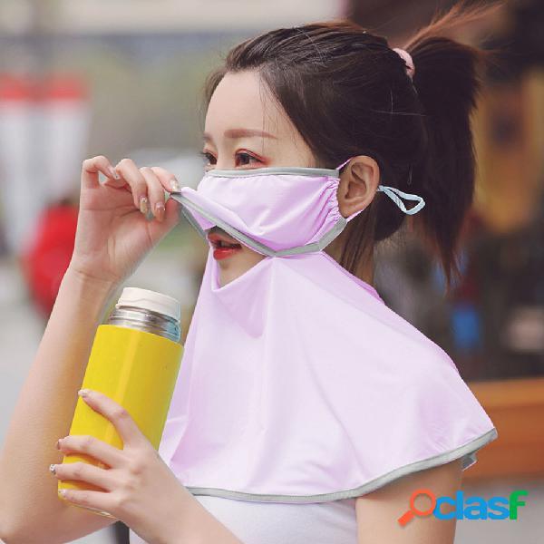 Protetor solar cachecol exterior respirável rosto máscara verão impressão de secagem rápida pescoço máscara