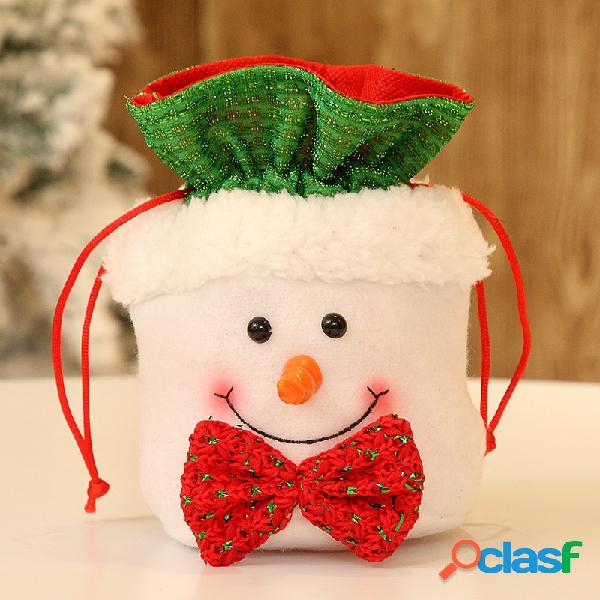 1 pcs flanela doces de natal bolsa presente bolsa casa presente de véspera de natal bolsa para crianças adulto