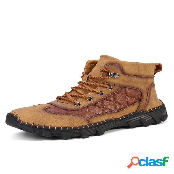 Masculino comfy microfibra couro anti deslizante soft botas tornozelo