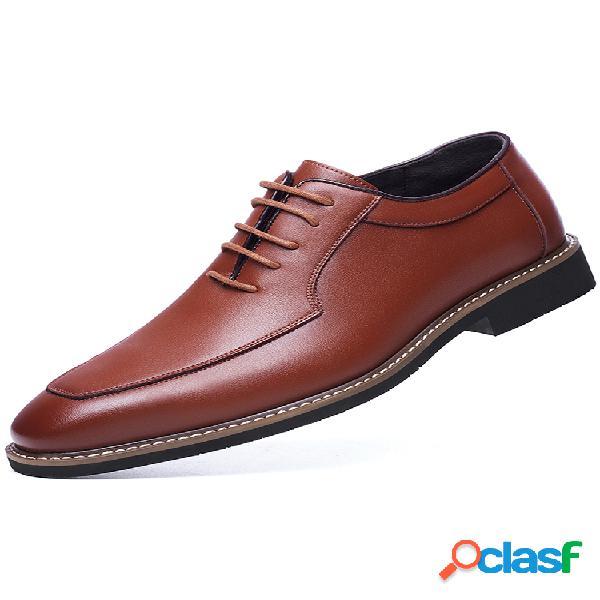 Masculino retro estilo britânico microfibra couro confortável antiderrapante formal sapatos casuais empresariais