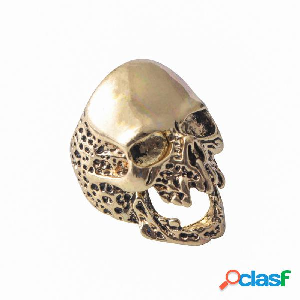 Anéis de dedo do punk irregular rugged crânio dedo anéis mão acessórios moda jóias para homens