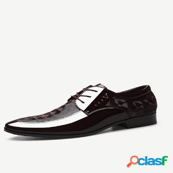 Sapatos formais casuais empresariais de couro pu antiderrapante masculino