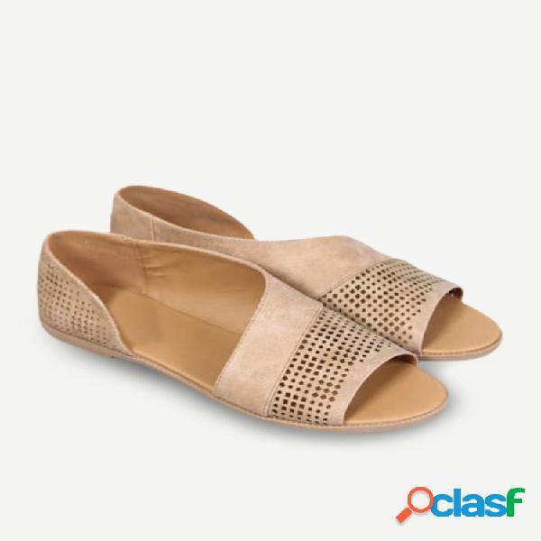 19 novos suprimentos laterais ocos peixes boca buraco sapatos sandálias sapatos romanos retrô sapatos de salto baixo sapatos de tamanho grande