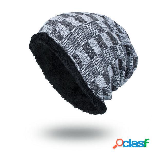 Chapéu lã de malha de maré chapéu temporada plus quente colisão cor pequena cabeça quadrada ao ar livre masculino chapéu