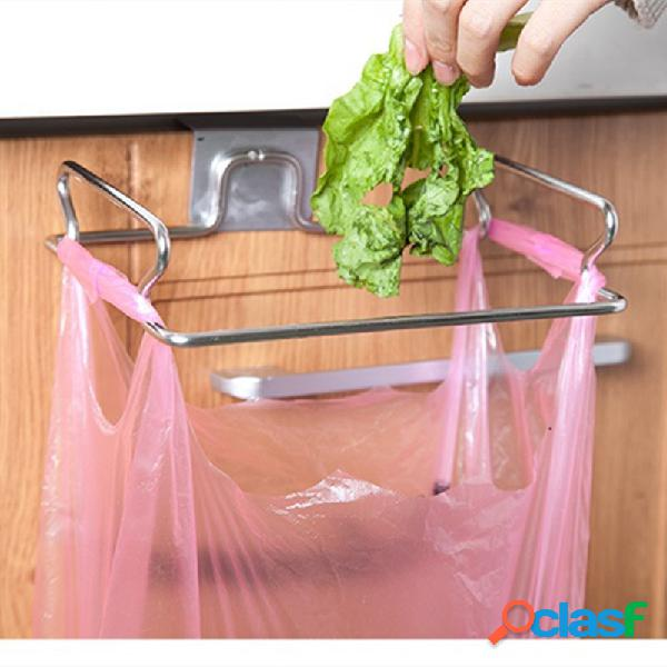 Porta de gaveta de armário de cozinha waste bolsa suporte para caixote do lixo suporte para armazenamento de sucata