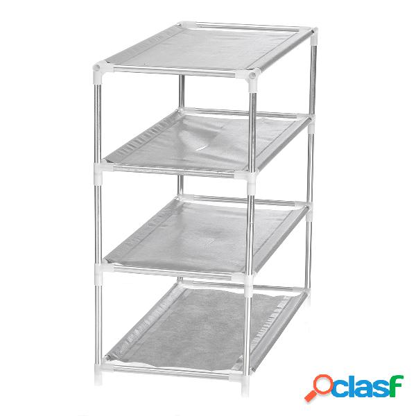 Stand titular prateleira multi layer tier opcional metal shoe rack storage organizador