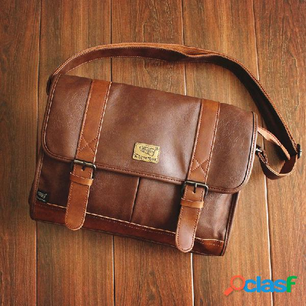 Grande capacidade mensageiro casual bag crossbody bag for men