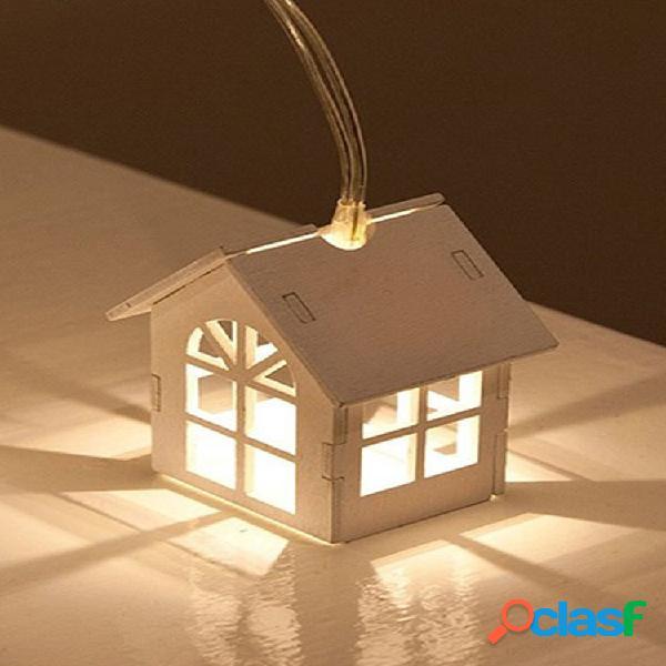 1.5 m 10 lâmpada led luzes de fadas luz branca quente corda pequena lâmpada led lâmpada decoração de casa festa de casamento
