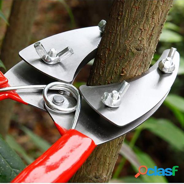 Kit de ferramentas para corte de enxerto de jardim tesouras de poda de aço inoxidável para árvores frutíferas tesouras de poda de jardim