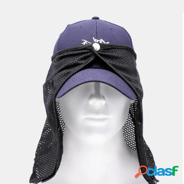 Pára-sol fio pesca chapéu protetor solar máscara de proteção solar respirável chapéu acessórios