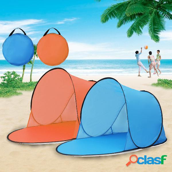 Camping externo automático pop up de abertura rápida à prova d'água uv praia toldo dossel