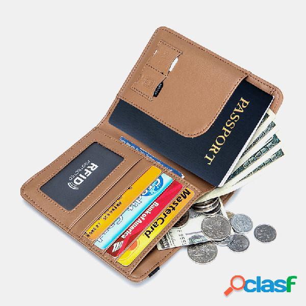 Mulheres rifd couro genuíno 4 slots para cartões 2 cartões de telefone celular pacote de identificação multifuncional money clip wallet wallet