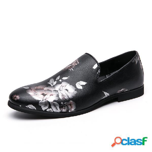 Sapatos sociais de microfibra de couro antideslizante masculino com sapatos sociais