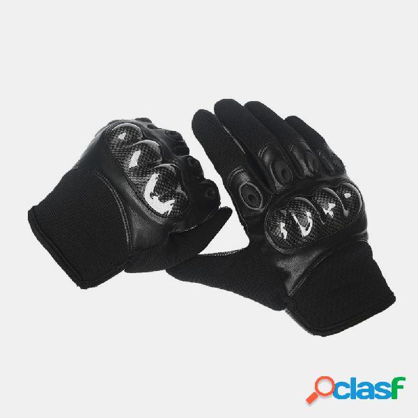 Luvas masculinas de couro antideslizantes e resistentes ao desgaste para treinamento militar tático anti-corte
