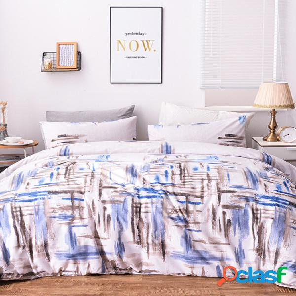 Conjunto de roupa de cama de comércio exterior de estilo simples e moderno de 2/3 unidades