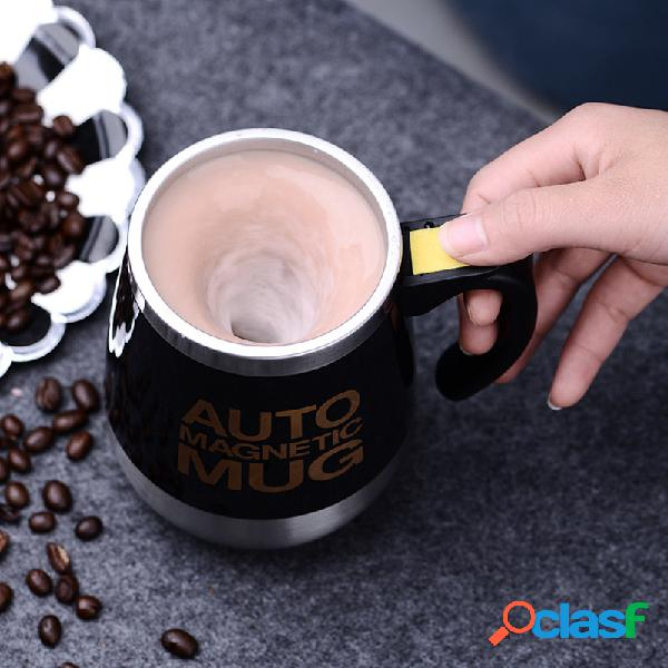 Canecas auto sterring em aço inoxidável magnético tampa para canecas canecas misturadoras de leite canecas elétricas preguiçosas inteligentes